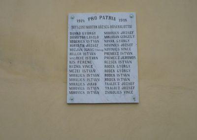 Tótszentmárton I.vh emléktábla 2010.01.13. küldő-Sümec