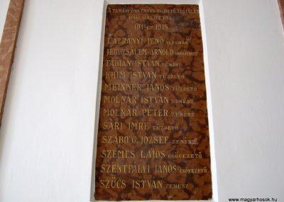 Tamási I. világháborús emléktábla a városháza falán 2010.07.18. küldő-Emese