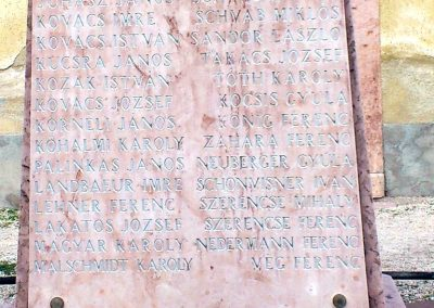 I. világháborús emlékmű, Tata, Almási úti temető