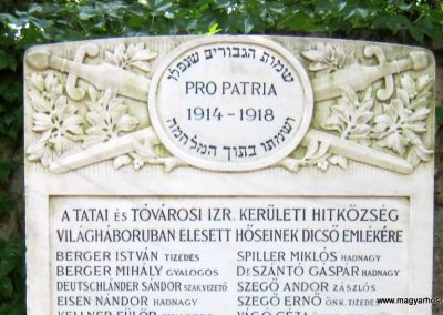 Tata Zsidó temető I. világháborús emlékmű 2013.06.30. küldő-Emese (1)
