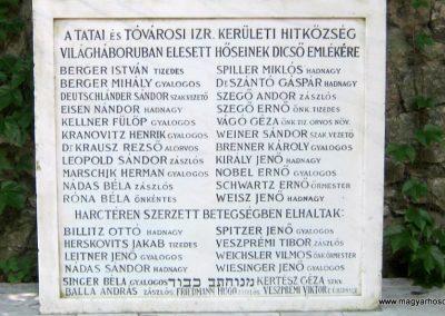 Tata Zsidó temető I. világháborús emlékmű 2013.06.30. küldő-Emese (2)