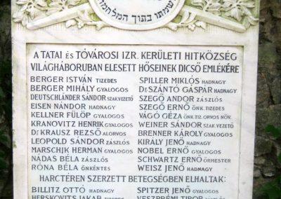 Tata Zsidó temető I. világháborús emlékmű 2013.06.30. küldő-Emese (3)