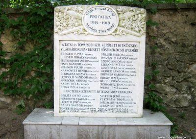 Tata Zsidó temető I. világháborús emlékmű 2013.06.30. küldő-Emese