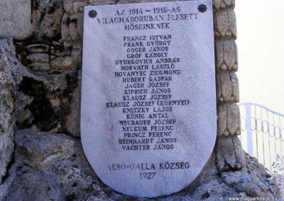 Tatabánya-Alsógalla világháborús emlékmű 2012.03.18. küldő-Méri (1)