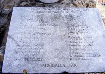 Tatabánya-Alsógalla világháborús emlékmű 2012.03.18. küldő-Méri (2)