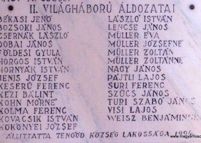 Tengőd világháborús emlékmű 2018.04.23. küldő-Huber Csabáné (3)