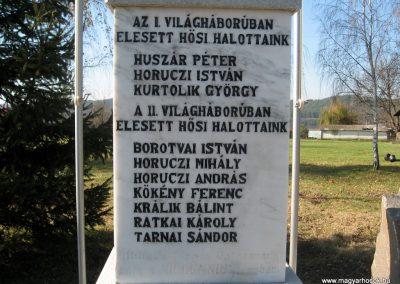 Terpes hősi emlékmű felújítás után 2010.10.31. küldő-kalyhas (5)