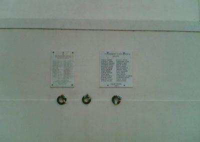 Tihany világháborús emléktáblák az Apátság falán 2007.06.24.küldő-Ágca (1)