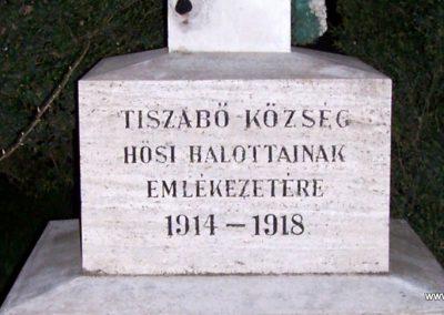 Tiszabő világháborús emlékmű 2009.04.08. küldő-miki (2)