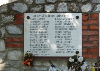 Tiszadorogma világháborús emlékmű 2008.04.22. küldő-kalyhas