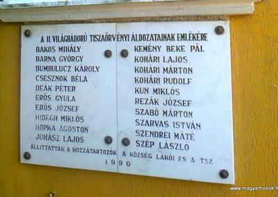 Tiszafüred-Tiszaörvény Világháborús emléktáblák 2018.06.28. küldő-Huber Csabáné (3)