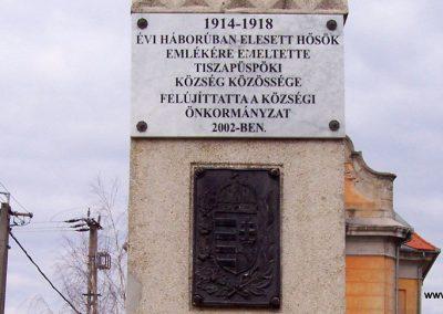 Tiszapüspöki világháborús emlékmű 2006.03.18. küldő-miki (1)