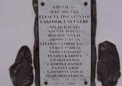 Tiszatenyő Hősi emlékmű 2009.04.02.küldő-miki (3)