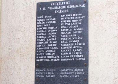 Tiszaug II.vh emléktábla 2009.05.15. küldő-miki
