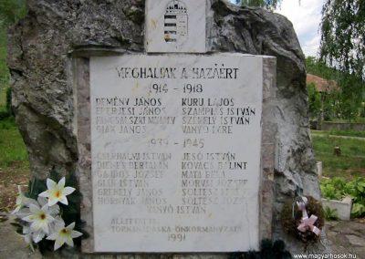 Tornanádaska világháborús emlékmű 2014.06.15. küldő-kalyhas (3)