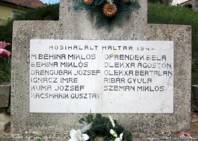 Vágáshuta II. világháborús emlékmű 2012.08.18. küldő-kalyhas (2)