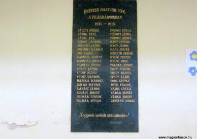 Várpalota Evangélikus templom fala I. világháborús emléktábla 2012.08.06. küldő-Emese
