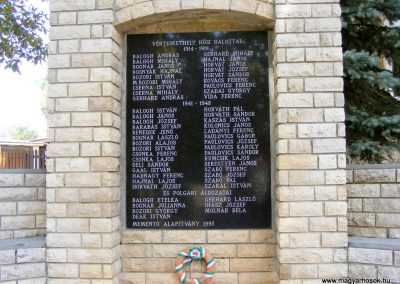 Vérteskethely, I. és II. világháborús emlékmű