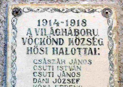 Vöckönd I. világháborús emléktábla 2007.07.25. küldő-HunMi (1)