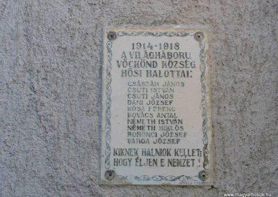 Vöckönd I. világháborús emléktábla 2007.07.25. küldő-HunMi