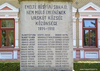 Vaskút világháborús emlékmű 2014.07.12. küldő-Méri (2)
