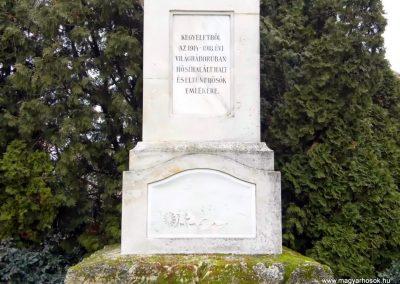 Veszkény, I. és II. világháborús emlékmű