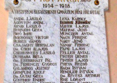 Veszprém, Szent Imre templom I. világháborús emléktábla 2017.05.19. küldő-Bagoly András (3)