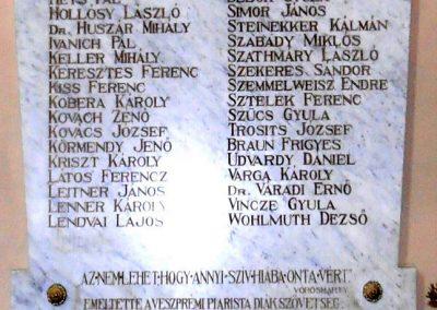 Veszprém, Szent Imre templom I. világháborús emléktábla 2017.05.19. küldő-Bagoly András (4)