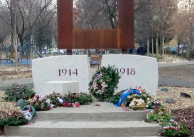 XIII. kerület Tüzér utca világháborús emlékmű 2018.12.13. küldő-Huszár Péter (2)