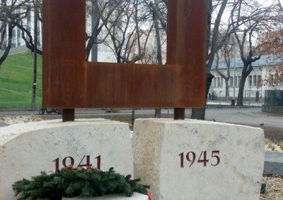 XIII. kerület Tüzér utca világháborús emlékmű 2018.12.13. küldő-Huszár Péter (4)