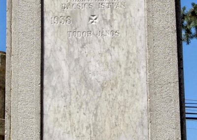 Zalacsány I. vh. emlékmű
