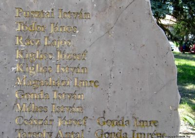 Zalacsány II. vh. emlékmű