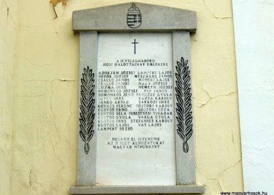 Zalagyömörő II. vh. emléktábla
