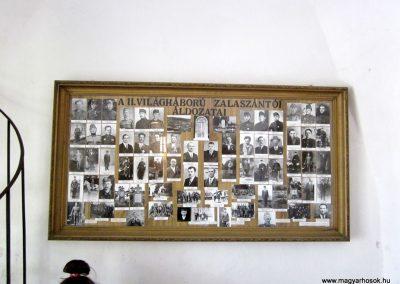 Zalaszántó II. világháborús emlék a templomban 2014.04.13. küldő-Sümegi Andrea