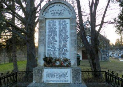 Zalaszántó II. világháborús emlékmű 2015.02.21. küldő-Huber Csabáné